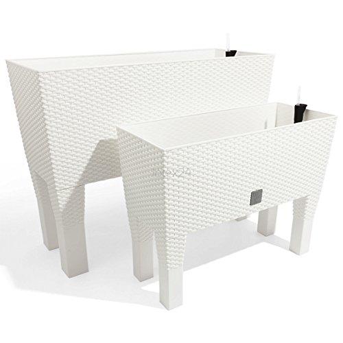 - Prosper Plast Rato Case High Flowerpot, 60 x 25 x 46 cm, White with Legs