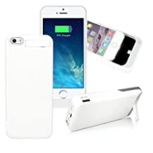 4200mAh Battery Backup Charger Case Cover Pack Rechargeable External Power Bank For iPhone 5 5S - White