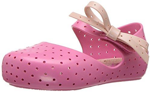 Mini Melissa Girls' Mini Furadinha X Mary Jane Flat, Pink Candy, 9 Regular US Toddler by Mini Melissa