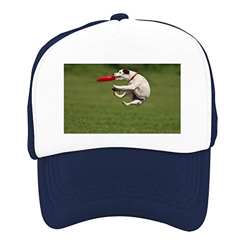EThomasine Kids Girls Boys Mesh Cap Trucker Hats Christmas Dog Adjustable Hat Navy by EThomasine