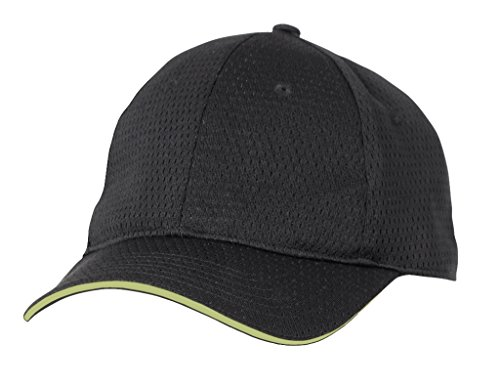 Chef Works Unisex Cool Vent Baseball Cap with Trim, Lime, One Size ()