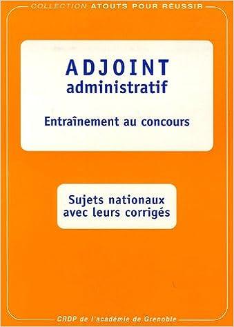 8f8f501fc7c Amazon.fr - Adjoint administratif   Entraînement au concours - Marc  Paquien
