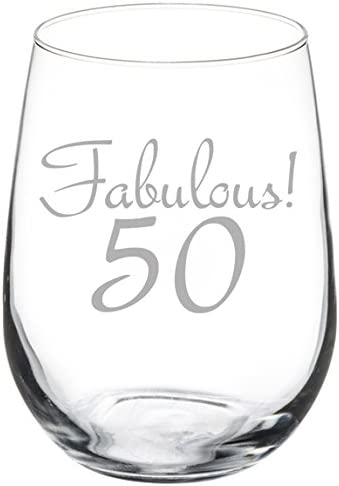 Details about  /I Turned 25 Twice 50th Birthday Funny Stemmed Stemless Wine Glass