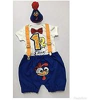 Conjunto de Ropita para niño/Set de Short, pañalero, corbatin y gorrito/Juego de Ropa para niño/Ropa de algodón suave /