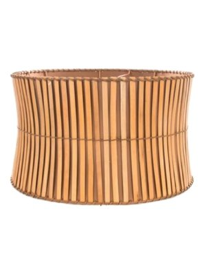 Upgradelights All Natural Bamboo 19 Inch Washer Fitted Lampshade Replacement (Bamboo Lamp Shade)