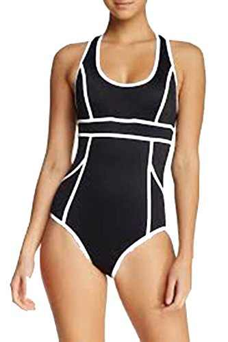 Spanx 2690 Hourglass Racerback One-Piece Swimsuit Size 8 in Black