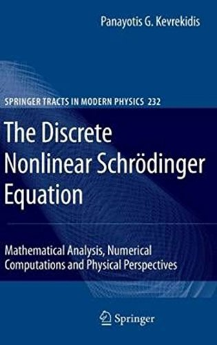 The Discrete Nonlinear Schrodinger Equation: Mathematical Analysis, Numerical Computations and Physical Perspectives