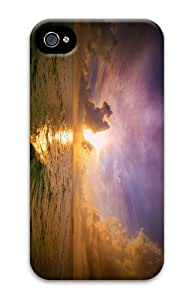 beautiful ocean sunset PC Case Cover for iPhone 4 and iPhone 4S 3D New Year gift