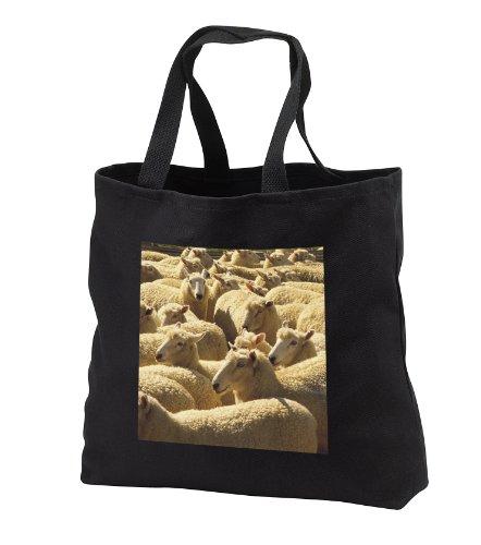 Florene Animals - Lotsa Sheep - Tote Bags - Washed Denim Tote Bag 14w x 14h x 3d