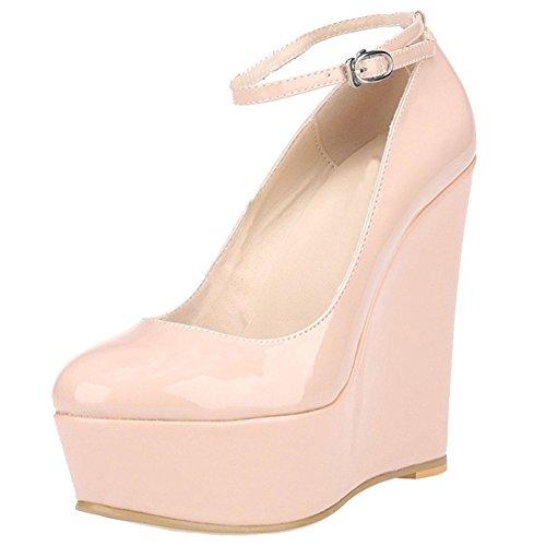 EKS - Zapatos de vestir para mujer Nackt-Lackleder