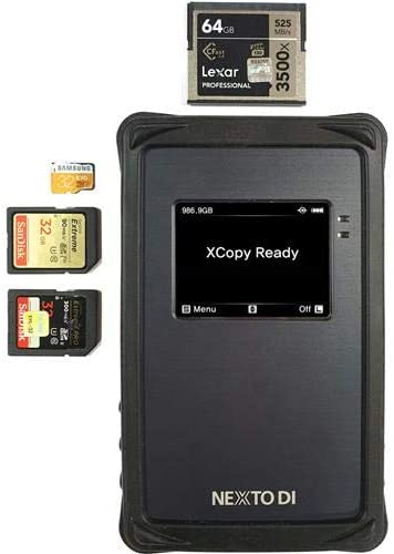 2X SD 2.0 and 1x microSD Slots UHS-II CFast Nexto DI NPS-10 All-in-1 Portable Backup Storage for Professionals Interface