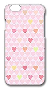 ACESR Coolest iPhone 6 Cases, Heart Sharp Background PC Hard Case Cover for Apple iPhone 6 (4.7 INCH) - 3D Design iPhone 6 Case