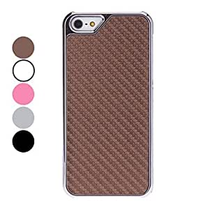 DD Solid Color Matting Design Hard Case for iPhone 5/5S (Assorted Colors) , Pink