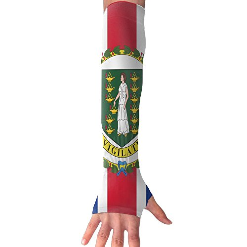 (Flag Of The British Virgin Islands Arm Cover Sleeves Fingerless Sun-proof Anti-UV Long)