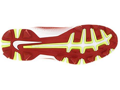 Nike Hombres de vapor Keystone 2bajo béisbol cornamusa Rojo University/Blanco