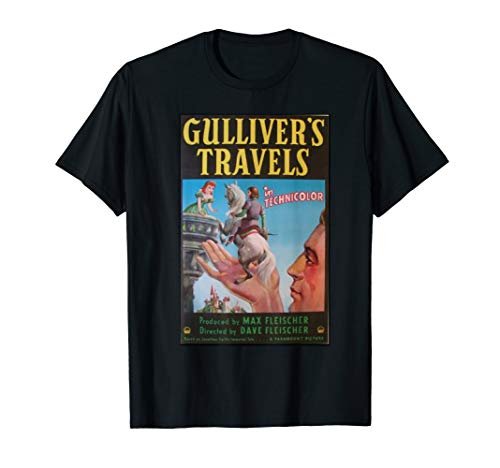 Classic Gulliver's Travels Retro Vintage Movie Poster T-Shirt