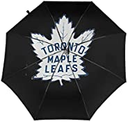 SYAyeah Universal Automatic Folding Umbrella UV Protection Windproof - Hockey-Logo-Toronto-Maple-Leafs