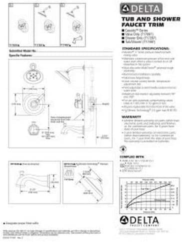 Delta T17497-PN Tub and Shower Showers