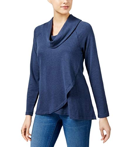 Style & Co. Cowl-Neck High-Low Tunic (Industrial Blue, XS) (& Co . Tunic Style Spandex)