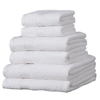 Juego de toallas Color Blanco, de Lujo, 500gsm, Súper