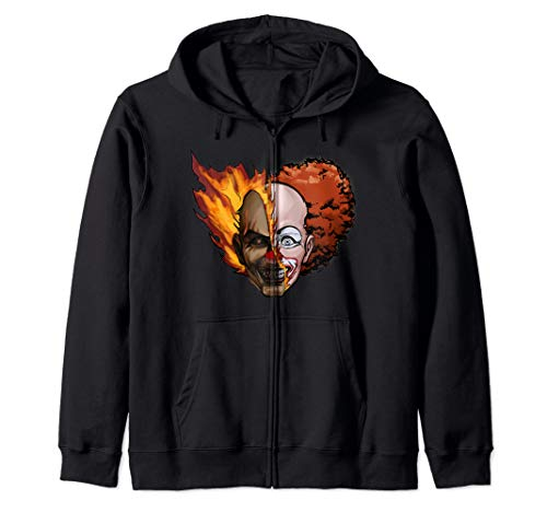 Scary Clown Outfit Ideas (Scary Clown Zip Hoodie)