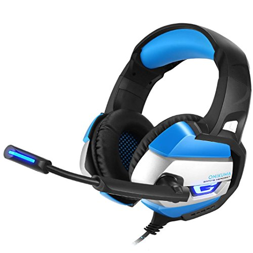 set Wired Headphone Best for Gamer Gaming Headset for Computer PC PS4 with Microphone (blue) ()