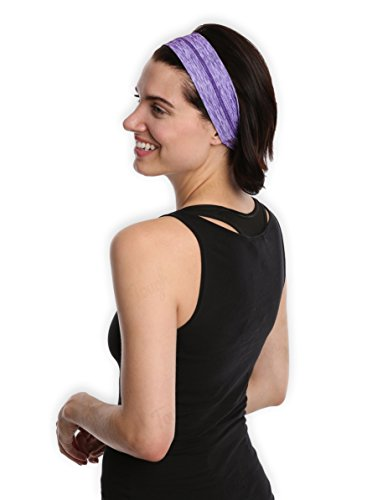 Women's Yoga Headband / No Slip Workout Sweatband - Sports Headband for Running, Crossfit, Volleyball or Fashion - Stylish, Secure & Super Comfortable. Ultimate Performance Stretch & Moisture Wicking