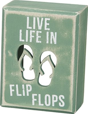 Box Sign - ''Flip Flops'' by Heart of America (Image #1)