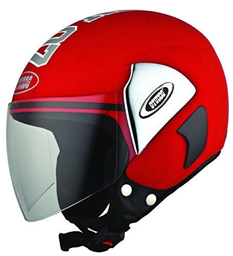 Studds Cub 07 SUS_C07OFHp_REDL Open Face Helmet (Red, L)