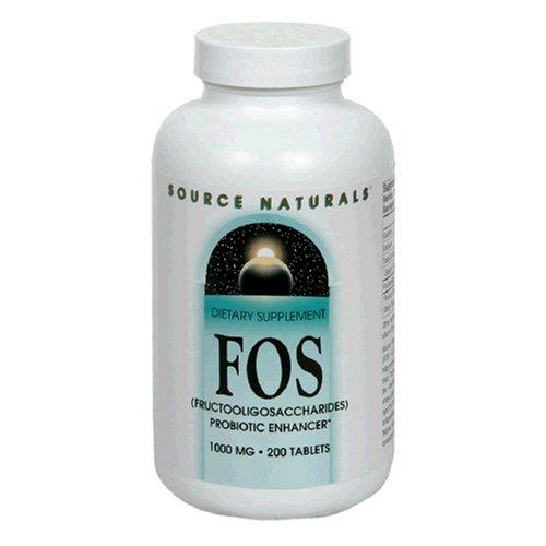 Source Naturals FOS fructooligosaccharides 1000mg, 200 comprimés