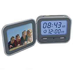 Innovative Technology ITCW-111 Clock-Wise Voice Recognition Digital Clock (Grey)