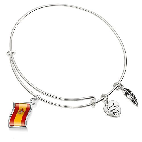 Enni of York ''flag Spain'' Expandable Bangle Bracelet by Enni of York