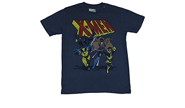 IN MY PARENTS BASEMENT X-Men (Marvel Comics) – Camiseta de Manga Corta para Hombre – Gambit Lobezno Bestia y cíclope 90s ERA