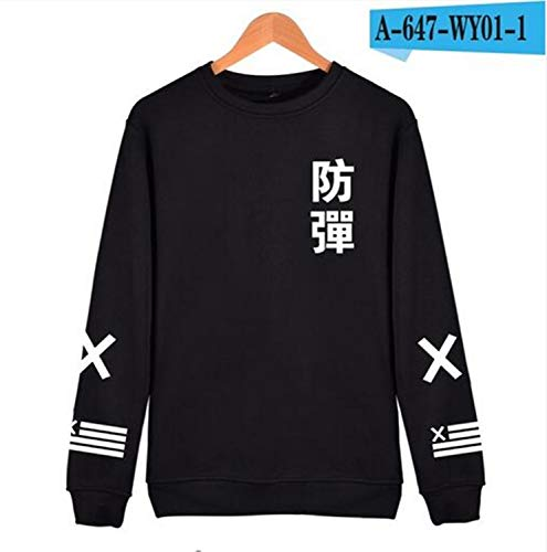 475e61f4 New BTS Kpop Harajuku Black Cotton Fashion Hip Hop Coat Capless Men BTS  Korean Casual Bangtan Clothes Black M
