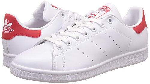 adidas Stan Smith, Zapatillas Para Hombre Blanco (Running White Footwear/Running White Footwear/Collegiate Red)