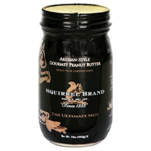 Squirrel Brand Nuts, Artisan-Style Peanut Butter, 16-Ounce Jars (Pack of 2)