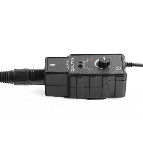Saramonic International XLR-Audio-Adapter (48V) mit Phantomspeisung, Monitoranschluss , volum Drehknopf für Apple iOS/Android Smartphone schwarz