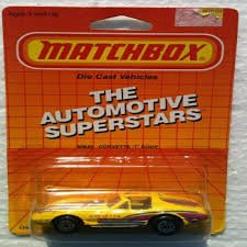 1987 Matchbox MB40 Bright Yellow CORVETTE
