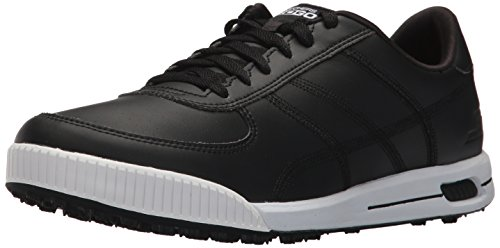 Twinkle Toes by Skechers Skechers Performance Men's Go Golf Drive Classic Golf Shoe,Black/White,10 M US