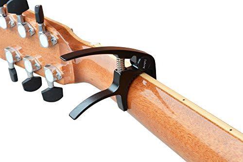 Dellwing Capodastre Premum Capo Pour Guitare Guitare Western Guitare Electrique Guitare Acoustique Banjo Ukulele Noir Etwas Kleiner Als Der Pb A06 Schwarz Pb A107 Amazon Fr Instruments De Musique