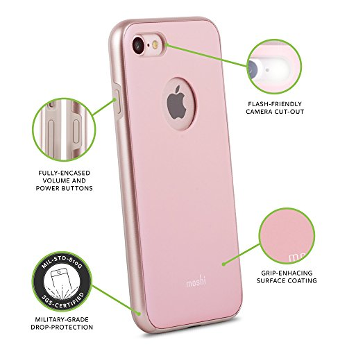 Moshi iGlaze Case für Apple iPhone 7, rosé