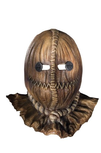 Trick 'R Treat TM Latex Mask with a burlap Look adult ()