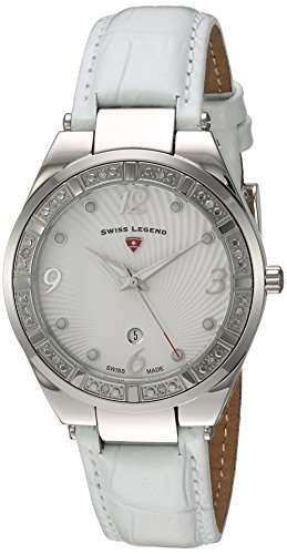 Swiss Legend Women's 'Passionata' Quartz Stainless Steel and Leather Automatic Watch, Color:White (Model: 10220SM-02-WHT)