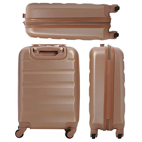 Large Capacity Maximum Allowance 22x14x9 Airline Approved by Delta United Southwest & More Carry On Luggage Bag | Rolling Travel Suitcase | Lightweight Small Hard Shell Trolley | 19.3x14x9in Body Size