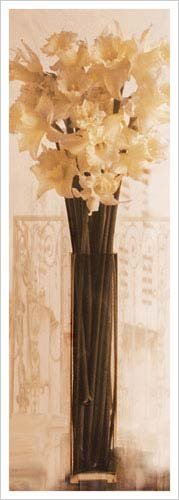 Pink Daffodils in a Glass Vase Art Print Poster by Richard Sutton
