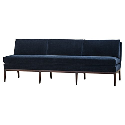 Reginald Hollywood Modern Navy Blue Armless Sofa
