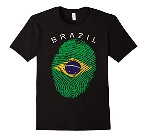 Mens Brazil Flag Shirt Brazilian Tee Bandeira do Brasil Medium - Bikini Mens Rio