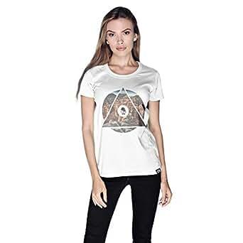 Creo Almaty Mountain City T-Shirt For Women - S, White