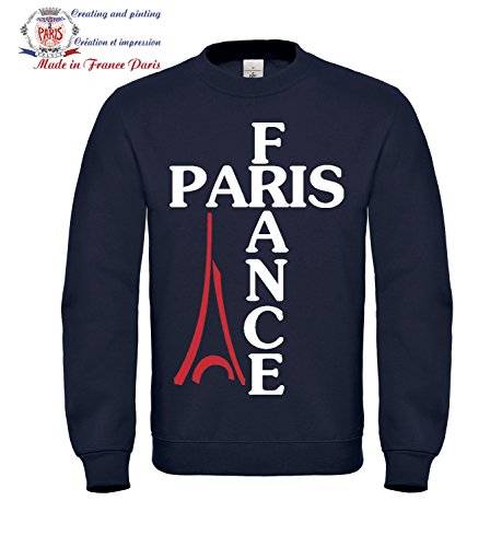 Sweat shirt Femme taille L Bleu - Paris France Tour Eiffel