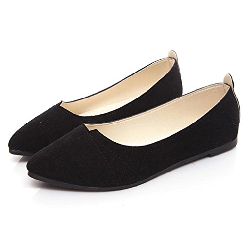 Shoes Shoes Womens Flat (Women Summer Sandals,Todaies New Women's Flats Ladies Comfy Shoes Soft Slip-On Casual Boat Shoes 2018 (US:7.5, Black))